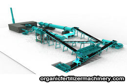 New type organic fertilizer granulator production line